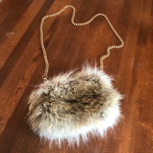FUR PURSE | Real fur and leather crossbody purse